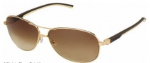 Tag Heuer Automatic Vintage 0884 Sunglasses Sunglasses - 204 Dark - Ivory Temple / Gold / Gradient Brown Outdoor Lens