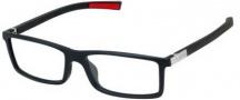 Tag Heuer Urban 7 0512 Eyeglasses Eyeglasses - 001 Matte Black - Red Temple / Matte Black Front