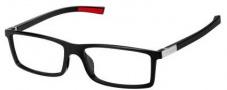 Tag Heuer Urban 7 0512 Eyeglasses Eyeglasses - 002 Shiny Black - Red Temple / Shiny Black Front
