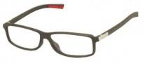 Tag Heuer Urban 7 0515 Eyeglasses Eyeglasses - 001 Matte Black - Red Temple / Matte Black Front