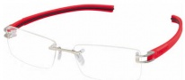 Tag Heuer 7644 Track-S Eyeglasses Eyeglasses - 005 Pure Front / Red -Black Temple