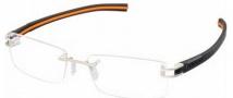 Tag Heuer 7644 Track-S Eyeglasses Eyeglasses - 004 Pure Front / Black - Orange Temple