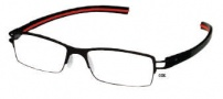 Tag Heuer Track-S 7621 Eyeglasses Eyeglasses - 006 Black - Red Temple / Black Front