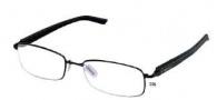 Tag Heuer Trends Rubber 8008 Eyeglasses Eyeglasses - 001 Black - Black Temple / Matte Black Front