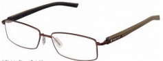 Tag Heuer Trends Rubber 8007 Eyeglasses Eyeglasses - 003 Havana - Black Temple / Matte Chocolate Front
