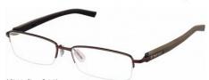 Tag Heuer Trends Rubber 8209 Eyeglasses Eyeglasses - 003 Havana - Black Temple / Matte Chocolate Front