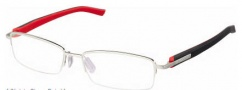 Tag Heuer Trends Rubber 8209 Eyeglasses Eyeglasses - 002 Black - Red Temple / Brushed Palladium Front