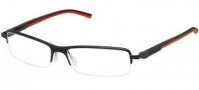 Tag Heuer Automatic 0824 Eyeglasses Eyeglasses - 012 Black - Red Temple / Matte Black Front