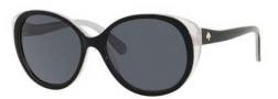 Kate Spade Finola/P/S Sunglasses Sunglasses - ESCP Black Silver (RA Gray Polarized Lens)
