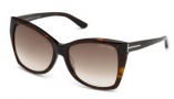 Tom Ford FT0295 Carli Sunglasses Sunglasses - 52F Dark Havana / Gradient Brown Lens
