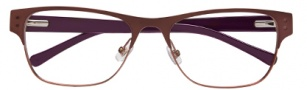 Cole Haan CH960 Eyeglasses Eyeglasses - Brown / Purple Temples