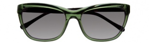 Cole Haan CH609 Sunglasses Sunglasses - Green / Black Temple / Black Lens