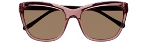 Cole Haan CH609 Sunglasses Sunglasses - Rose / Brown Temple / Brown Lens