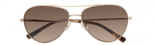 Cole Haan CH610 Sunglasses Sunglasses - Gold / Brown Gradient Lenses