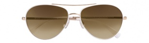 Cole Haan CH610 Sunglasses Sunglasses - White / Brown Gradient Lenses