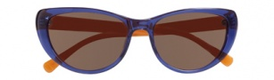 Cole Haan CH615 Sunglasses Sunglasses - Cobalt Front / Orange Temple