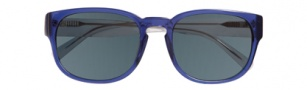 Cole Haan CH693 Sunglasses Sunglasses - Cobalt / White Temples