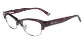Anne Klein AK5008 Eyeglasses Eyeglasses - Burgundy Marble