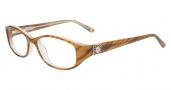 Anne Klein AK5007 Eyeglasses Eyeglasses - Amber Horn