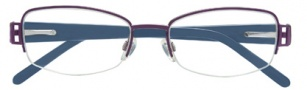 Ellen Tracy Constanta Eyeglasses Eyeglasses - Eggplant / Blue Temples