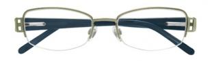 Ellen Tracy Constanta Eyeglasses Eyeglasses - Sage / Purple Temples