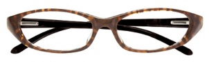Ellen Tracy Faro Eyeglasses Eyeglasses - Brown / Black Temples