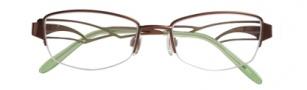 Ellen Tracy Florence Eyeglasses Eyeglasses - Coffee