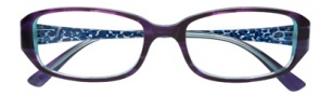 Ellen Tracy Santorini Eyeglasses Eyeglasses - Eggplant Laminate