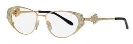 Caviar 5588 Eyeglasses Eyeglasses - 21 Gold w/ Clear Crystal Stones