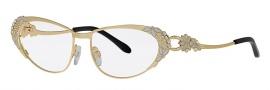 Caviar 5589 Eyeglasses Eyeglasses - 21 Gold / Clear Crystal Stones