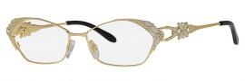 Caviar 5590 Eyeglasses Eyeglasses - 21 Gold / Clear Crystal Stones