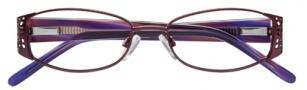 Ellen Tracy Valencia Eyeglasses Eyeglasses - Aubergine