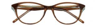 Ellen Tracy Wellington Eyeglasses Eyeglasses - Brown - Olive Laminate