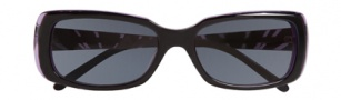 Ellen Tracy Antigua Sunglasses Sunglasses - Black / Eggplant Laminate