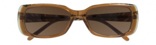 Ellen Tracy Antigua Sunglasses Sunglasses - Brown / Olive Laminate