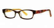 Ogi Kids OK71 Eyeglasses Eyeglasses - 1276 Brown Demi / Orange Plaid