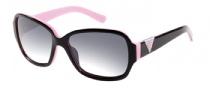 Guess GU 7277 Sunglasses Sunglasses - BLK-3: Black / Pink