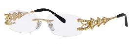 Caviar 1667 Eyeglasses Eyeglasses - 21 Gold / Clear Crystal Stones