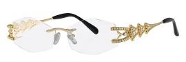 Caviar 1668 Eyeglasses Eyeglasses - 21 Gold / Clear Crystal Stones
