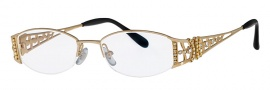 Caviar 1669 Eyeglasses Eyeglasses - 21 Gold / Clear Crystal Stones