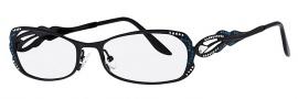 Caviar 1751 Eyeglasses Eyeglasses - 24 Black w/ Clear Blue Crystals