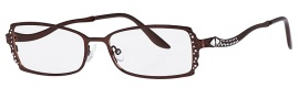 Caviar 1754 Eyeglasses Eyeglasses - 16 Brown / Clear Crystal Stones
