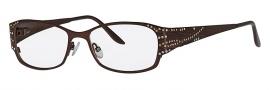 Caviar 1756 Eyeglasses Eyeglasses - 16 Brown / Clear Topaz Crystal Stones