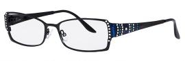 Caviar 1759 Eyeglasses Eyeglasses - 24 Black / Clear Blue Crystal Stones
