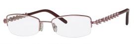 Caviar 2334 Eyeglasses Eyeglasses - 57 Pink / Clear Pink Crystal Stones