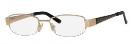 Caviar 2611 Eyeglasses Eyeglasses - 24 Gold / Black Clear Crystal Stones