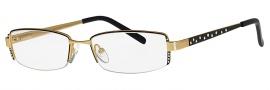 Caviar 2615 Eyeglasses Eyeglasses - 24 Black / Gold w/ Clear Crystal Stones