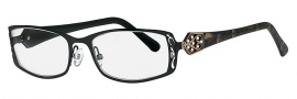 Caviar 4005 Eyeglasses Eyeglasses - 24 Black / Gold Clear Crystal Stones