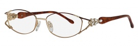 Caviar 5584 Eyeglasses Eyeglasses - 16 Brown / Gold Clear Crystals