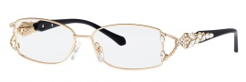 Caviar 5585 Eyeglasses Eyeglasses - 21 Gold / Black Clear Crystals